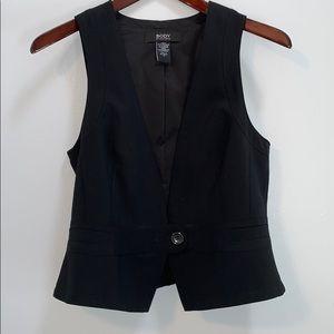 Body by Victoria Black Suit Vest Size 10